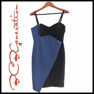 BCBGeneration Asymetrical Colorblock  Dress NWOT